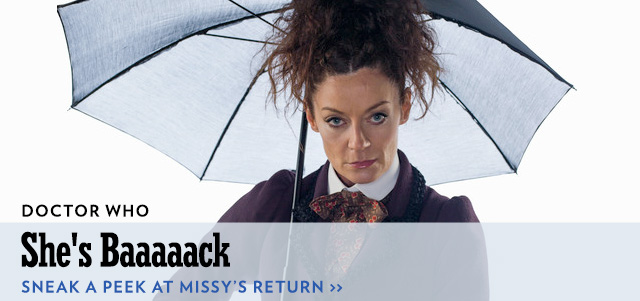 MISSY IS BACK ON DOCTOR WHO